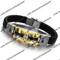 Pulseira Bracelete Algema Masculino Titanium Frete Grátis