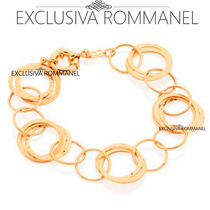 Rommanel Pulseira Circulos Vazados Detalhes Feminina 550788