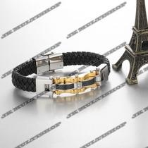 Bracelete Pulseira Algema Masculino Titanium Sedex Grátis