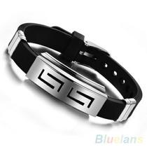 Pulseira Bracelete Masculino Em Aço Inox-frete Grátis