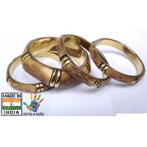 Bracelete Pulseira Indiana Kit 4 Peças Original Étnica Luxo