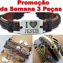 Pulseira Bracelete Nota Musical, Mão De Fátima, Pingentes