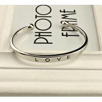 Pulseira Bracelete Love Prata