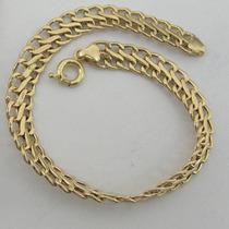 6714 Pulseira 20 Cm Lacraia De Ouro 18k 750 Y