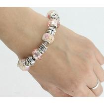 Pulseira Bracelete Pandora Berloque Charm Prata 925
