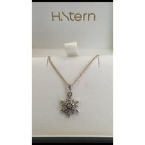 Colar H Stern Hstern Stars Pequeno Ouro Nobre 18k Diamantes