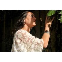 Bracelete Em Prata Do Nepal Com Pedra Jade Vermelho