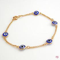 Pulseira P/colar,pingente,corrente Olho Grego Banho Ouro 24k