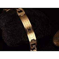 Pulseira Bracelete Masculino Cruz Jesus Aço Cirurgíco 316l