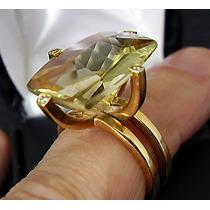 Anel Maravilhoso ** Em Ouro 18k ,topázio E Diamantes !!