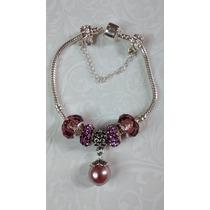 Pulseira/bracelete Estilo Pandora Em Prata De Lei 925