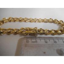 Pulseira Grumet Ouro 18k 0750 Maciça 55 Gramas
