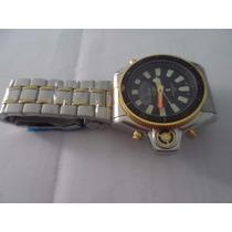 Relógio Aqualand Serie Ouro Pulseira De Aço Inox