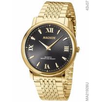 Relógio Magnum Masculino Slim Ma21928u Dourado - Original