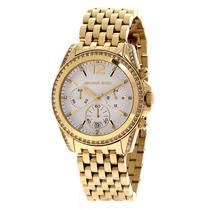 Relógio Luxo Michael Kors Mk5835 Orig Chron Anal Ouro Imac!!