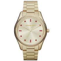 Relógio Luxo Michael Kors Mk3246 Orig Anal Ouro Swarovski!!!