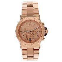 Relógio Luxo Michael Kors Mk5314 Orig Chron Anal Gold Rose!!
