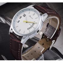 Relógio Masculino Marrom Calendário Clássico Bonito E Barato