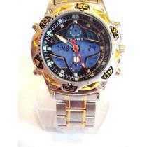 Relógio Tecnet Alpha Aviador Azul - Original