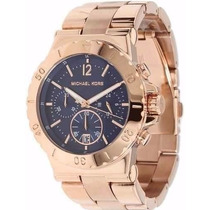 Relogio Michael Kors Mk5410 Azul Rose Caixa Manual