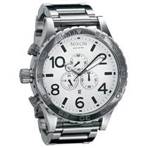 Relógio Nixon 51-30 Branco Aço - Original - Em 12x Sem Juros