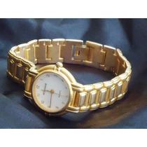 Elegante,raro Relógio Vintage Fem.mondaine,banho18k,déc.90