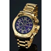 Relógio Sarastro Dourado - King G - Original Na Caixa
