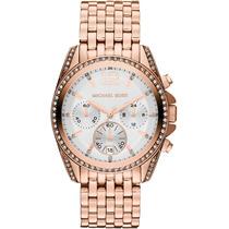 Relógio Luxo Michael Kors Mk5836 Orig Chron Anal Ouro Rosé!!