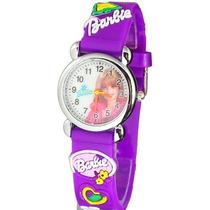 Relógio Barbie 2 Infantil Criança Pulseira 3d