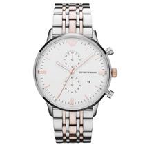 Relógio Emporio Armani Ar0399 Prata E Rose Frete Grátis
