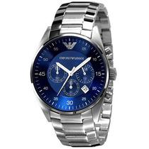 Relógio Emporio Armani Ar5860 Prata E Azul Lindo Com Caixa.