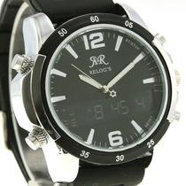 Relógio Esportivo Clássico( Exemplo Da Foto Em Preto) (preto