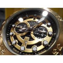 Invicta Original Pro Diver Chronograph Aço E Ouro 18k 13087