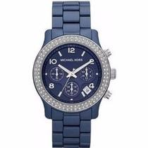 Relógio Michael Kors Mk5655 Azul Ceramica Frete Gratis