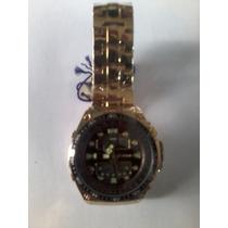 Relógio Masculino Atlantis Dourado Analógico Digital