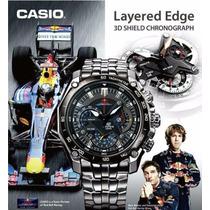 Relógio Casio Edifice Redbull Black - Novo Na Caixa