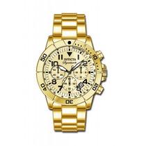 Relógio Invicta Signature Cronografo Calend 7471 Plaque Ouro