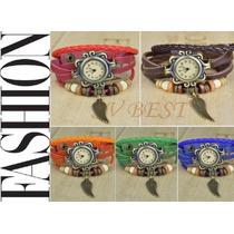 Relógio Bracelete C/ Pingente Asa De Anjo - Veja O Vídeo
