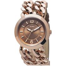Relógio Analógico Pleven Eu2035fgc/2m - Dourado Euro