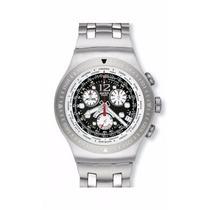 Relógio Swatch Get Fly Black Yos414g Irony The Chrono No Rj