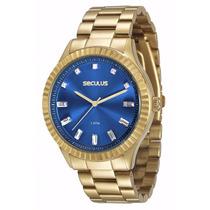 Relógio Seculus Feminino 2 Anos Garantia 69507lpsvds2 A