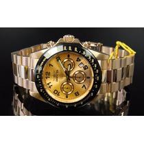 Invicta Cronograph Banhado Ouro 18k Daytona De $1.980 Por