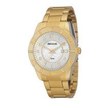Relógio Seculus Feminino Clássico Dourado 28240lpspds2