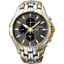 Relógio Seiko Chronograph Solar Alarm Masculino Dourado Prat