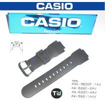 Pulseira Casio Original G-shock Aw-582 Awg-m500 Preta