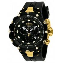 Relógio Invicta 1521 Venom 2 Reserve Dourado Frete Grátis.