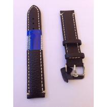 Pulseira De Couro Marron Legítimo P/ Relógio 18mm Universal