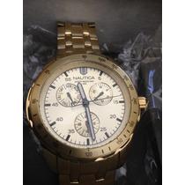 Relógio Nautica Golden Watch( Citizem/fossil/ Tommy)