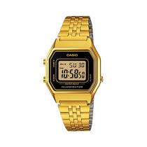 Relogio Casio La680wga 1d Cronometro Alarme Timer Wr Gold