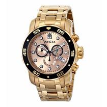 Relógio Invicta 80063 Banhado Ouro 18k Edição Pro Diver Luxo